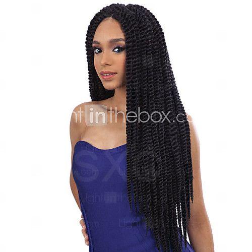 Kanekalon Senegalese Braid hair wigs sythetic hair lace front wig Havana Mambo Twist Crochet Braid Hair - AUD $98.67