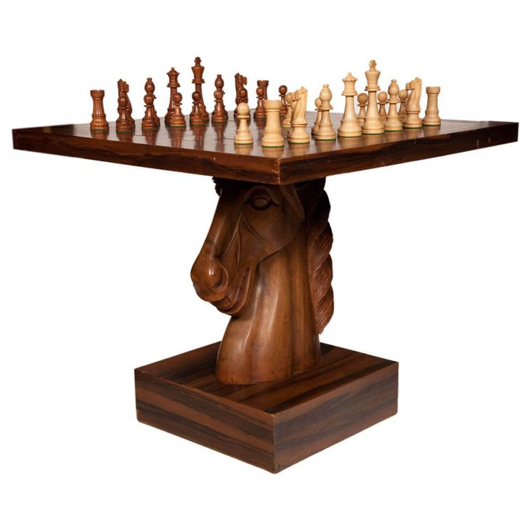 American Fantasy Knight Chess Table | From a unique collection of antique and modern game tables at http://www.1stdibs.com/furniture/tables/game-tables/