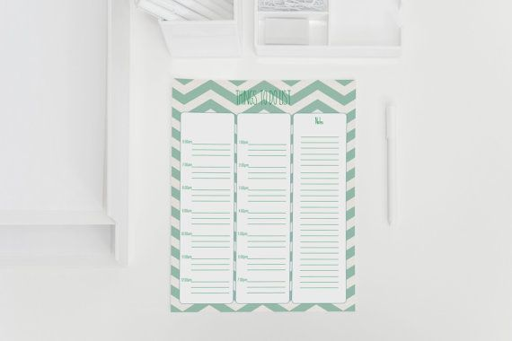Printable To Do Lists  Daily Day Planner  Instant by ErivaDesign