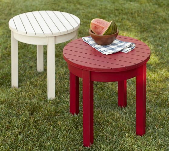 ... Our Adirondack Chair, These Side Tables Are Built From FSC Certified  Mahogany And Have The Charming Weathered Look Of New England Lakeside  Furniture.