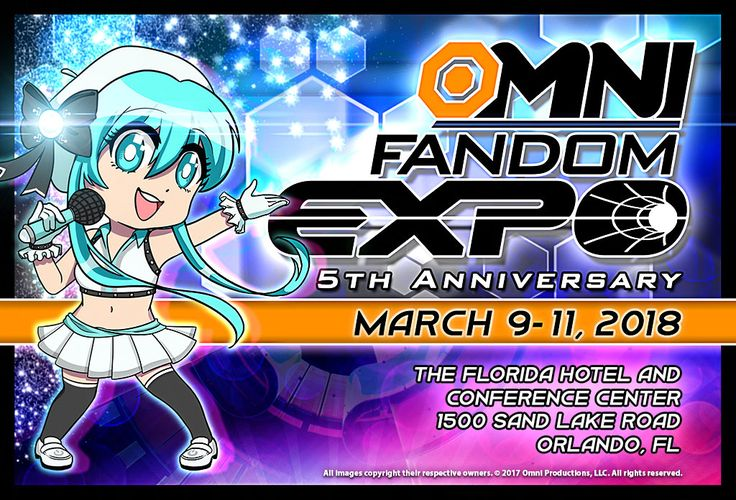 OMNI FANDOM EXPO is your Spring destination in Orlando, Florida for SciFi, Comics, Anime, Fantasy, Gaming, Cosplay, and Pop Culture and is a weekend long event featuring celebrity guests, and exciting shows, contests and events!