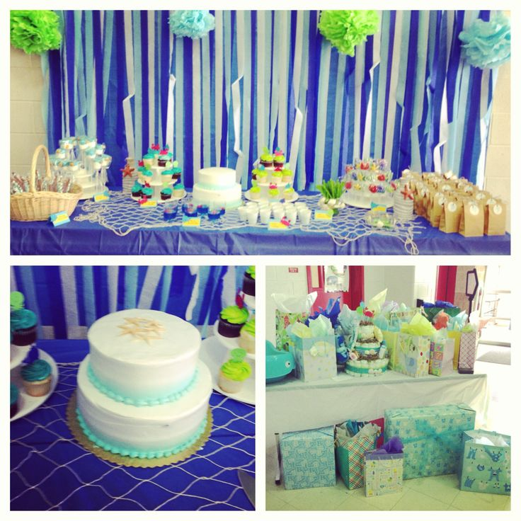 Sweet Treat Table Decoration Ideas For Under The Sea Baby Shower