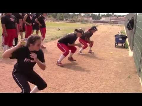 Emily Burrow on SoCal Firecrackers at Firecrackers Softball Skills Clinic with Lauren & Jackie Sweet - YouTube