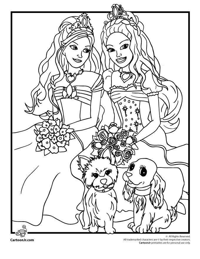 barbie coloring pages barbie diamond castle coloring page cartoon jr - Barbie Pictures To Print And Colour