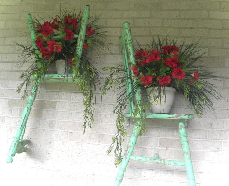 Repurposed Chair Shelves by Cave Interiors, Nederland TX  ... ♥tt