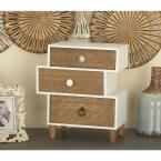 Asymmetrical 3-Drawer Wooden Jewelry Box, Multi