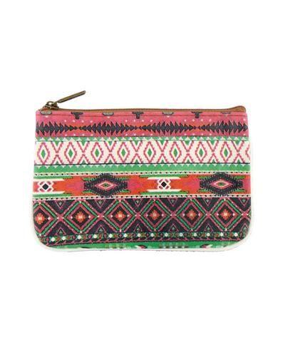 Playa Aztec faux leather printed pouch - Mlavi  - 1