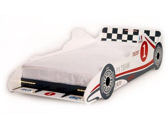 pin lit voiture turbo racing blanc doccasion comparer les on pinterest. Black Bedroom Furniture Sets. Home Design Ideas