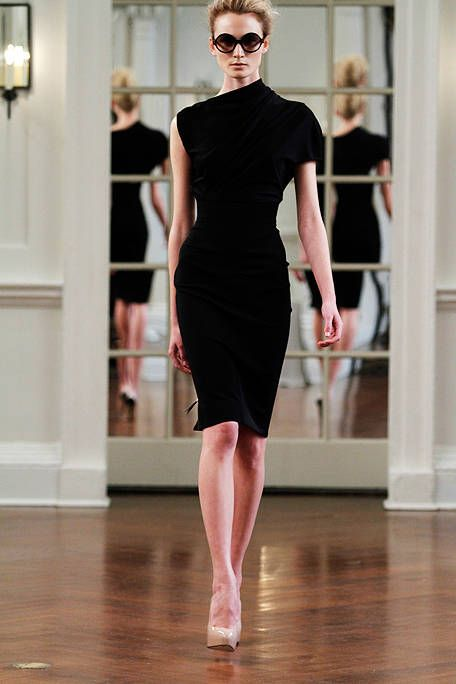 Now that's a LBD!! Victoria Beckham Fall 2010 Runway - Victoria Beckham Ready-To-Wear Collection - ELLE