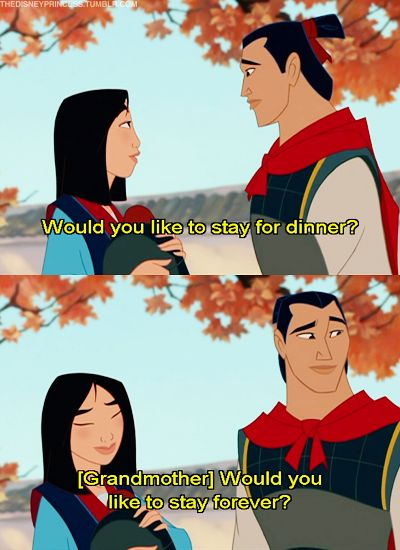 Best line of the movie...MULAN!