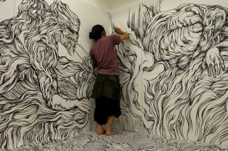 Doodle Installation by Yosuke Goda