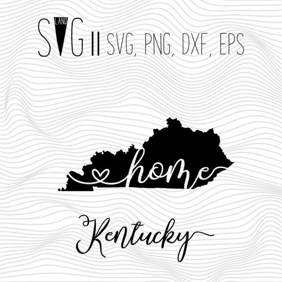 Kentucky home svg state svg font svg files for silhouette for cricut svg eps png dxf vector cutting files vinyl decal monogram svg