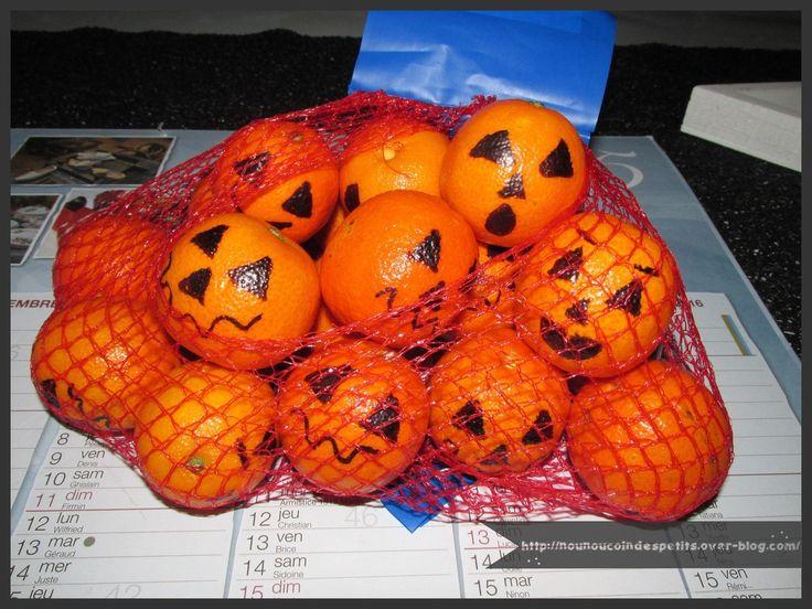 - Les bonbons c'est bon mais les fruits c'est mieux ! une idée toute simple trouvé chez pinterest pour accompagner quelques sucreries dans notre sac a friandises fantôme, vous pouvez retrouver la création ici : http://nounoucoindespetits.over-blog.com/2015/10/sac-a-friandises-fantome-halloween.html -...