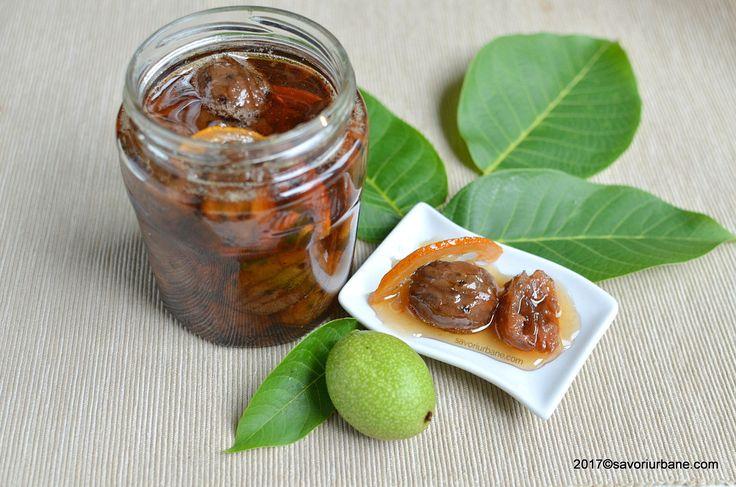 Dulceata de nuci verzi reteta pas cu pas. O dulceata ca pe vremuri, o reteta veche cu parfum de casa bunicilor. Un desert de lux care se prepara cu migala