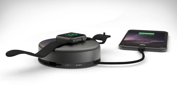 Nomad Pod Pro este incarcatorul de care ai nevoie pentru a reincarca bateriile unui iPhone si Apple Watch in acelasi timp. #gadget #iPhone #AppleWatch #Watch #smartphone #Nomad #NomadPod #NomadPodPro