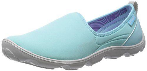 Crocs DtBusyDaySk, Damen Durchgängies Plateau Ballerinas, Blau (Ice Blue/Pearl White 4CV), 38/39 EU - http://on-line-kaufen.de/crocs/38-39-eu-crocs-duet-busy-day-skimmer-women-damen
