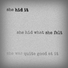 ...and when hiding it gets difficult, she just hides herself from the world...