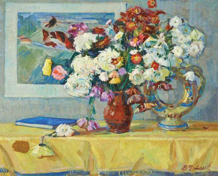 Галерея «Арткапитал» — 018/098 ДОВГАЛЕВСКАЯ В. В. Цветы на столе