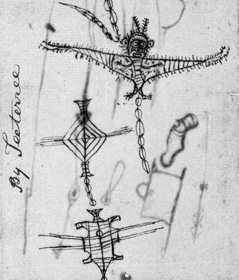 Sketches of Māori kites, 1800s
