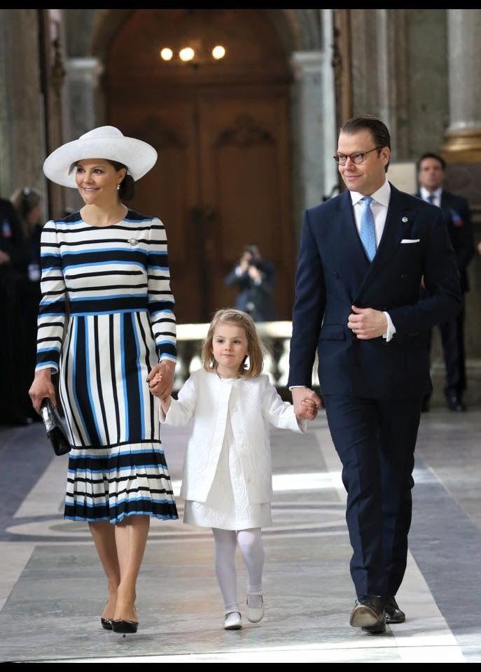 v.l.n.r. kroonprinses Victoria prinses Estelle prins Daniël