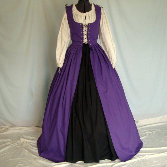 Renaissance Dress, Irish overdress with skirt.