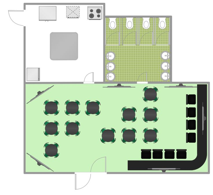17 best images about building plans cafe and restaurant for Construction layout software