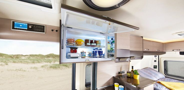 The SlimLine fridge offers 90 L of space,