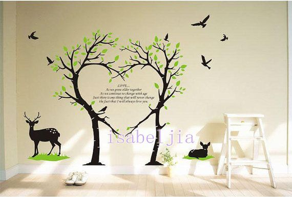 Bird Lovely Forest  Vinyl wall sticker  wall decal decals wall murals art  nursery wall decals-Nature- France