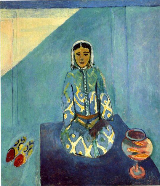 Zorah on the Terrace by Henri Matisse  Size: 56x48 cm Medium: oil on canvas