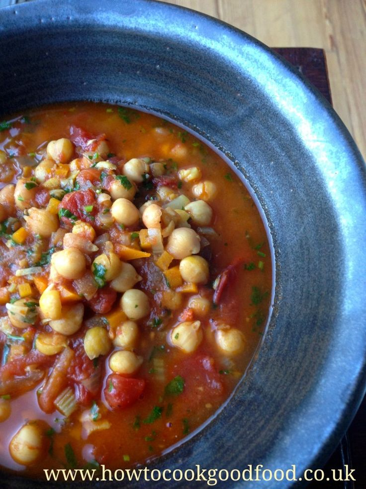 ... Spiced Chickpea and Tomato Soup | http://www.howtocookgoodfood.co.uk