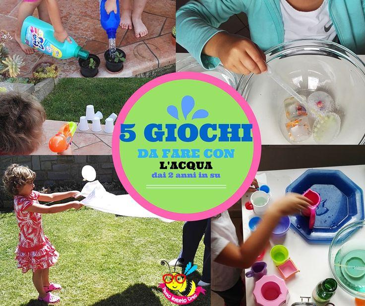 #toddles #kids #activities #fun 5 giochi facili da preparare usando l'acqua, innaffiare, sciogliere, ghiacciare, bombe d'acqua e travasi montessoriani per bambini dai 2 anni