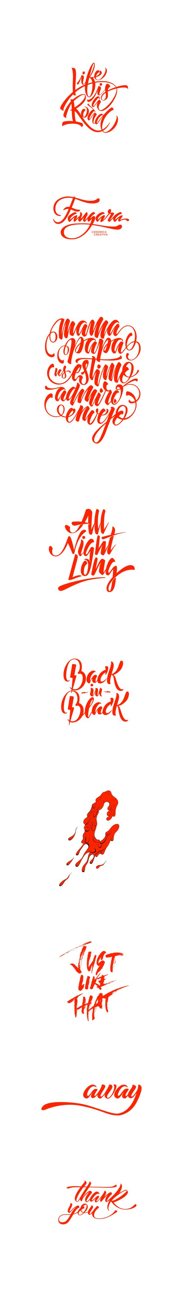 Lettering collection by Jimbo Bernaus, via Behance