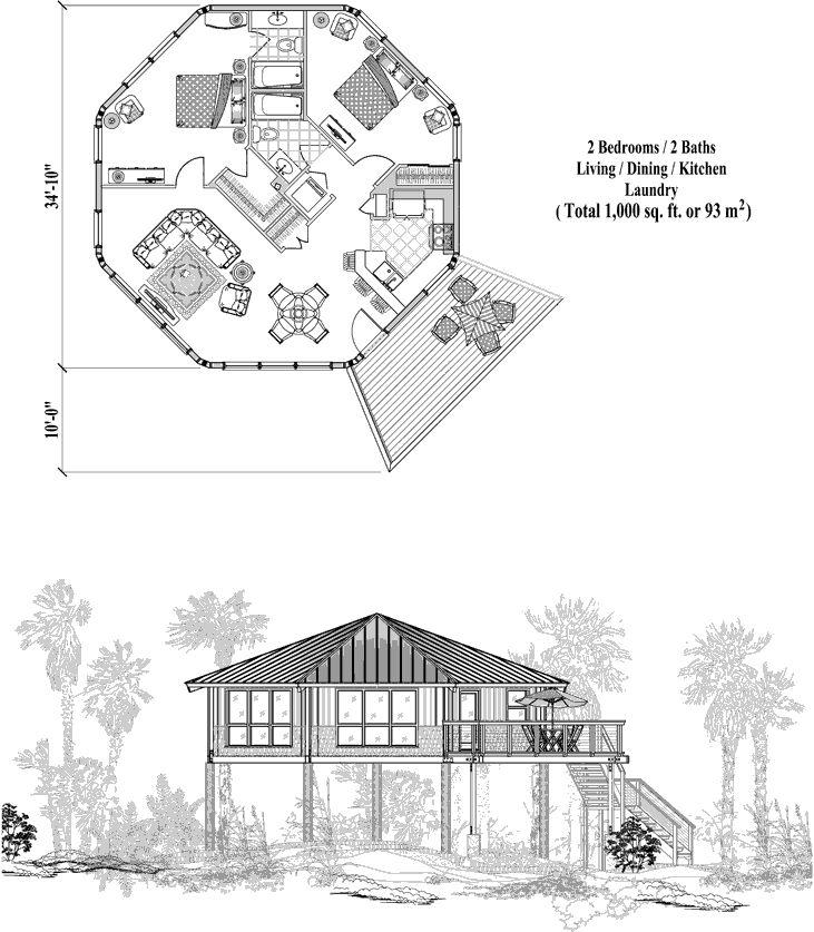 84 best tree house for fazal images on pinterest log for Island house plans on pilings