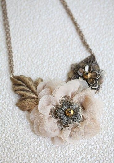 another pretty neo victorian steampunk necklace from ruche. their stuff is amazing! Omg I have this set in rose shades