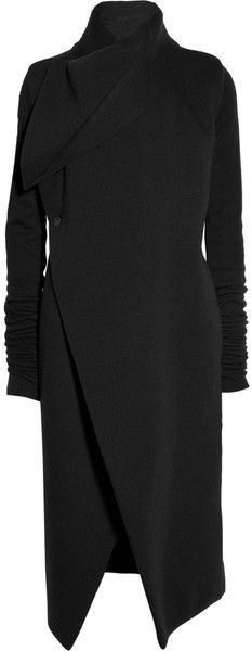 Draped Fleecejersey Coat - Lyst