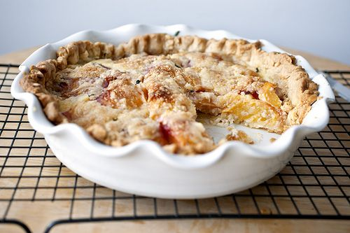 peach crème fraiche pie with a thyme butter crust from Sassy Radish ...
