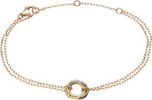 Trinity de Cartier Armband Weißgold, Gelbgold, Rotgold