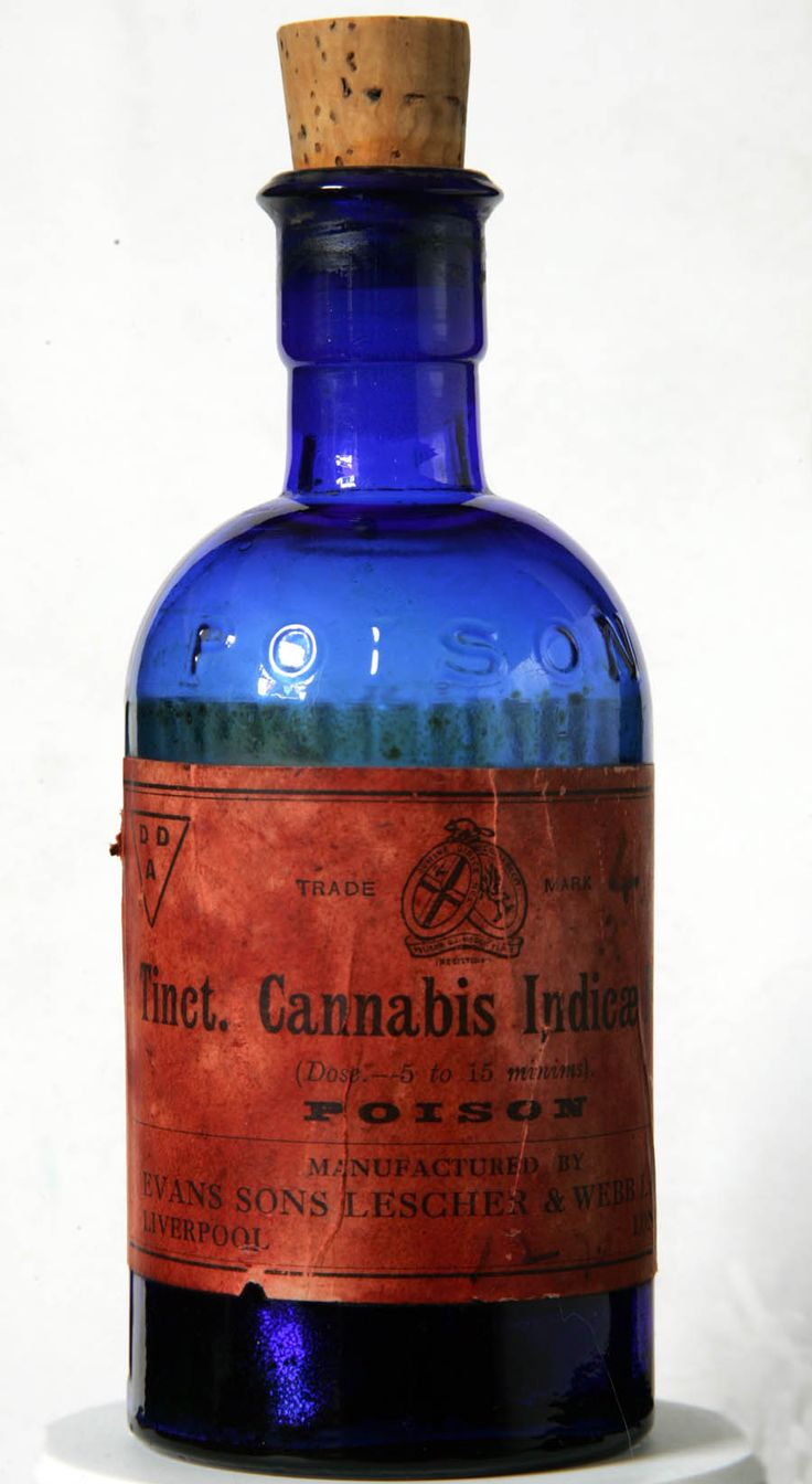 "Cannabis Tincture  (they were wrong about ""poison"" though; Cannabis is one of the least toxic substances around)."