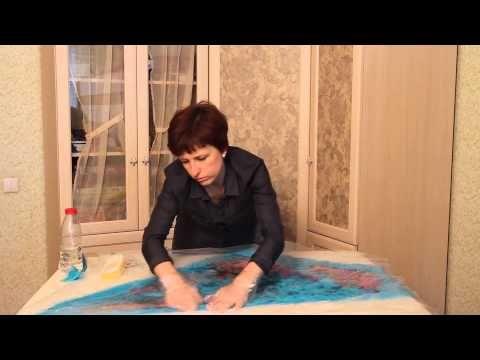 Мастер-класс: «Шарф-бактус в технике нуно-фелтинг» Уровень сложности: средний При помощи этого видео-урока Вы сможете создать эксклюзивный шарф-бактус (косын...