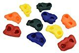 Kids Large Rock Climbing Holds (10 Pack) – with Mounting Hardware for up to 1″ Installation