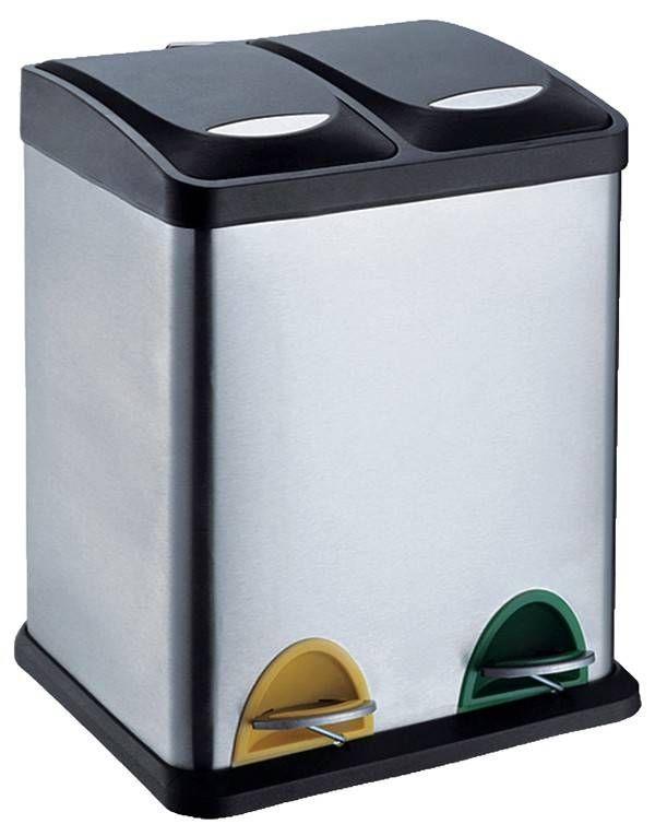 Protenrop Pedaalemmer Duo (30 liter) (2 compartimenten) #huishoudelijk #pedaalemmer #prullebak #protenrop #30liter