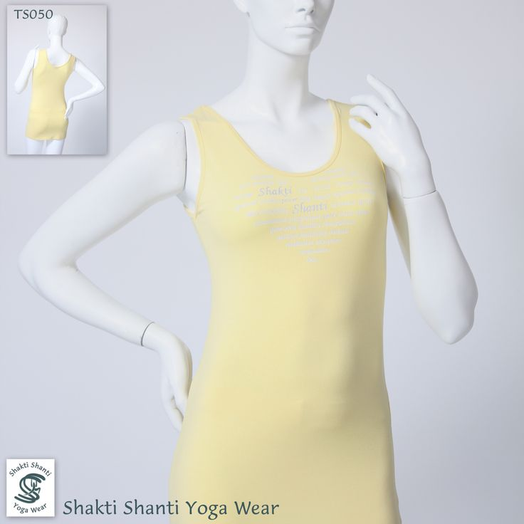 Yellow viscose silver printed extra long vest TS050