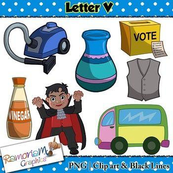Letter V Clip Art Clip Art For Teachers Clip Art Letter V Lettering