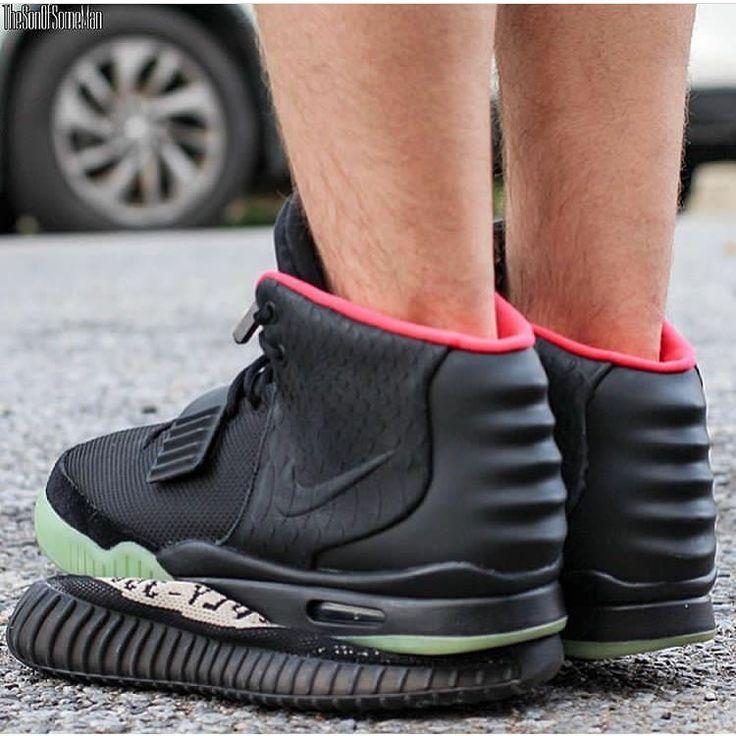 Nike Air Yeezy II over adidas Yeezy Boost? Do you approve?  by @thesonofsomeman #sneakersmag #nike #adidas #yeezy #hype #heat