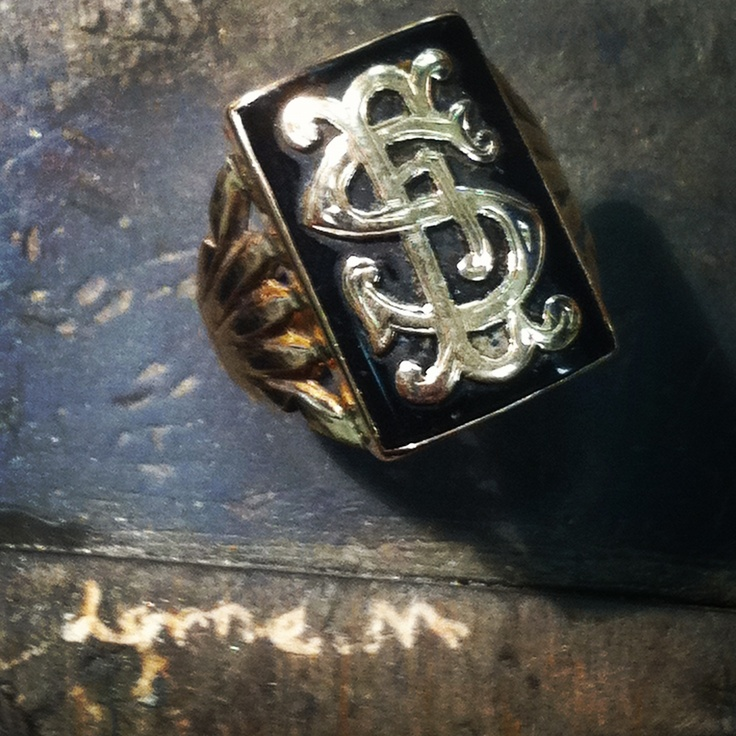 Old fashioned monogram ring