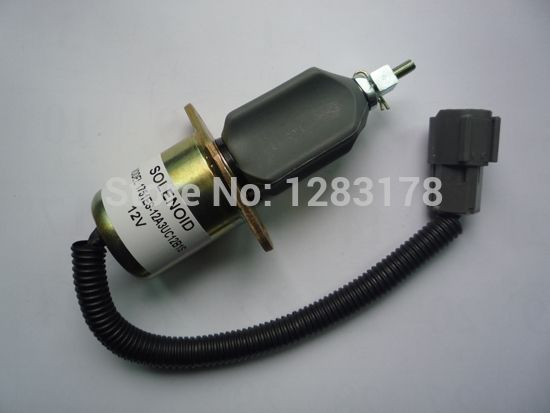 26.00$  Watch here  - Fuel Shutdown Solenoid Valve 1751ES-24A3UC12B1S SA-4673-S for Hyundai Excavator R60-5 Yanmar engine model 4TNE-94