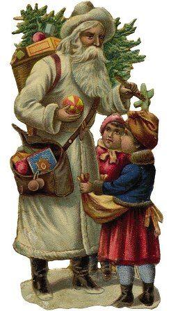 Joulun kuvitus - Vintage kuvia - vanhanaikaisia joulukuvia