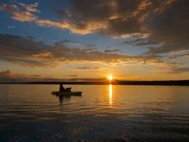 Sunset over the Laguna Bacalar