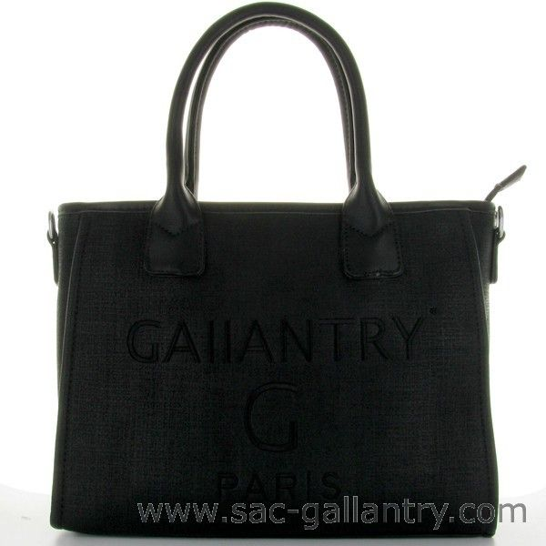 Sac a main cabas noir Gallantry l Sac à main pas cher de la marque Gallantry
