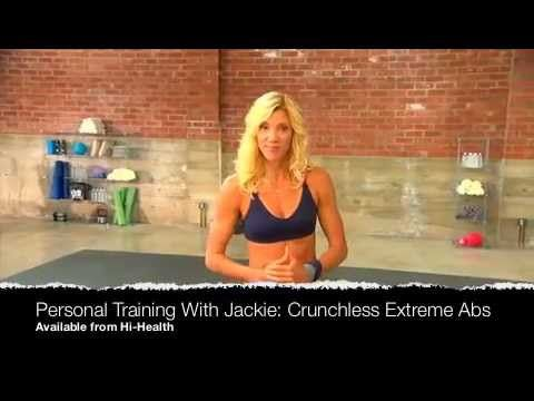 Jackie Warner Xtreme Abs DVD Introduction Video: Crunches: we all hate doing them. So don't! You don't need crunches to get a lean, flat, toned, and sexy midsection. In Jackie's crunch-free training program, crunches are considered a waste of time.    Learn her secrets to getting those AMAZING abs in these two innovative workouts just 15 minutes each! One routine gives you the option to sculpt your abs and strengthen your core with exercises all performed from a standing position.